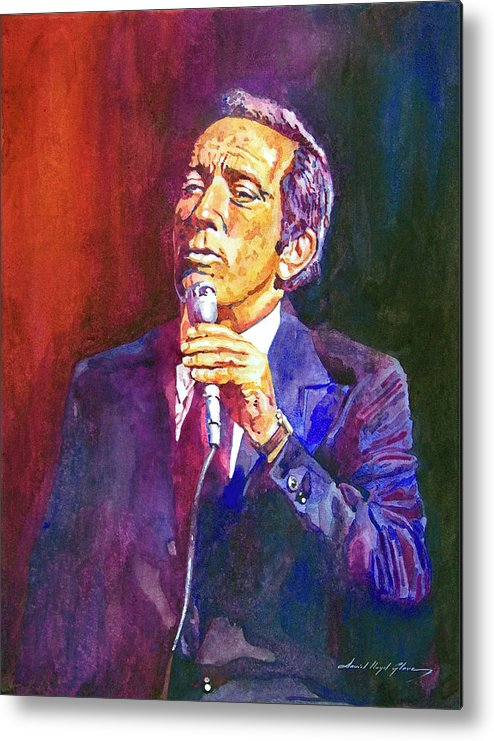 Andy Williams Metal Print featuring the painting This Song Is For You - Andy Williams by David Lloyd Glover