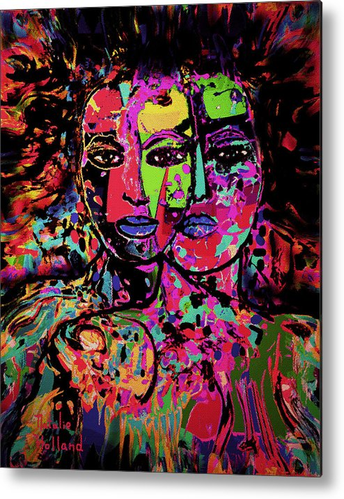 Woman Metal Print featuring the mixed media Best Friends Forever by Natalie Holland
