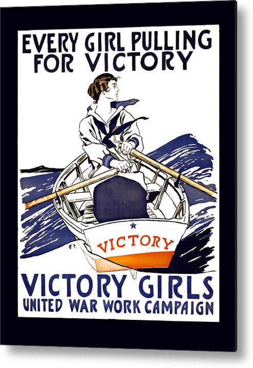 world War Metal Print featuring the photograph Victory Girls Of W W 1   1918 by Daniel Hagerman