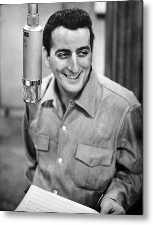 1950s Portraits Metal Print featuring the photograph Tony Bennett, C. 1954 by Everett