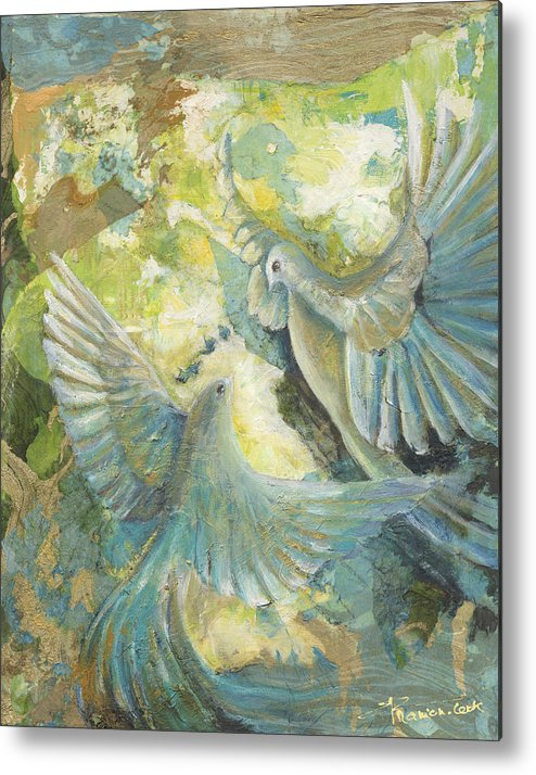 Abstract Metal Print featuring the painting Mystery by Valerie Graniou-Cook