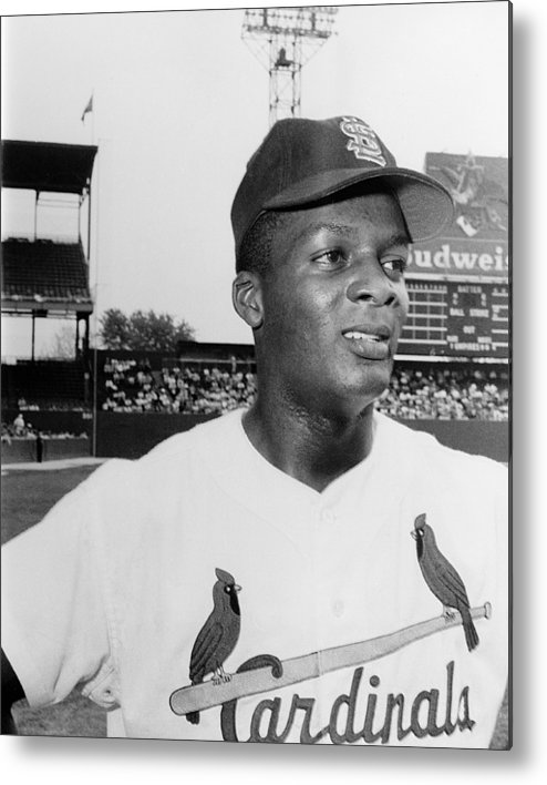 1959 Metal Print featuring the photograph Curt Flood (1938- ) by Granger