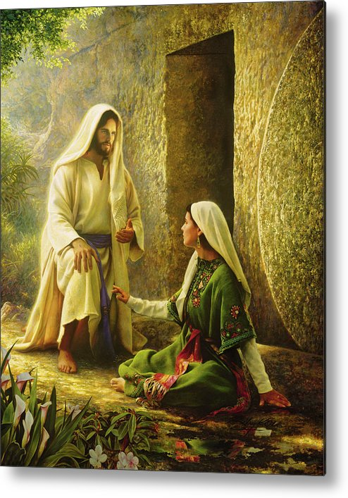 Jesus Metal Print featuring the painting He Is Risen by Greg Olsen