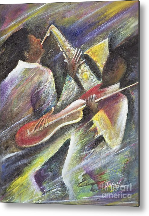 African-american; African Metal Print featuring the painting Session by Ikahl Beckford