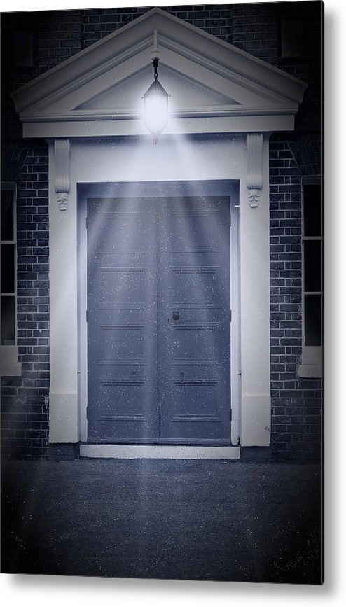 Apartment Metal Print featuring the photograph Blue Door by Svetlana Sewell