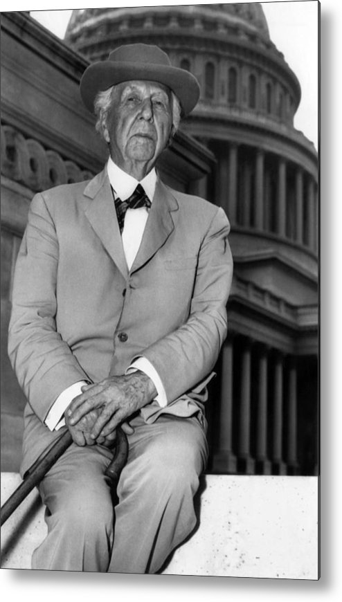 1950s Metal Print featuring the photograph Frank Lloyd Wright 1867-1959, Prominent by Everett