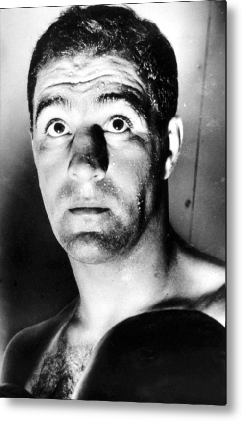 1950s Portraits Metal Print featuring the photograph Rocky Marciano, 1950s by Everett