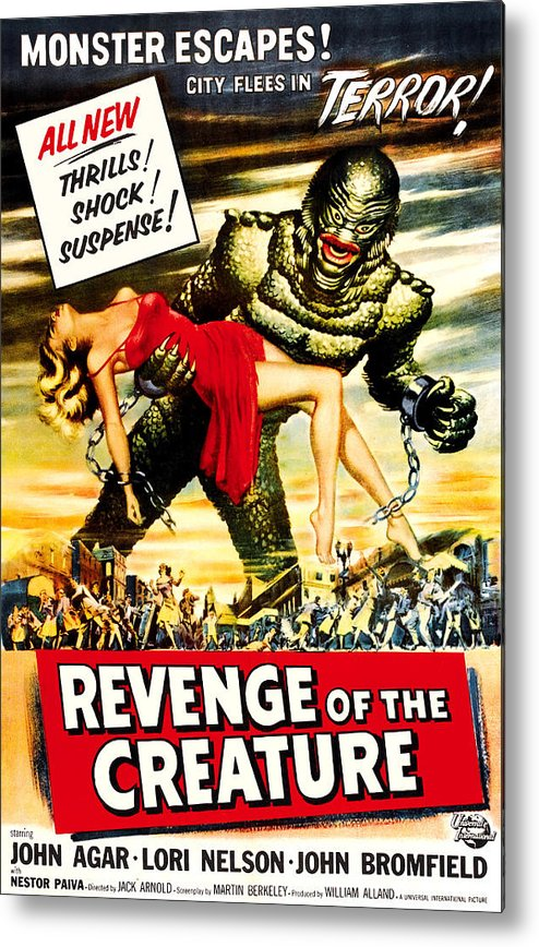 1950s Poster Art Metal Print featuring the photograph Revenge Of The Creature, 1955 by Everett