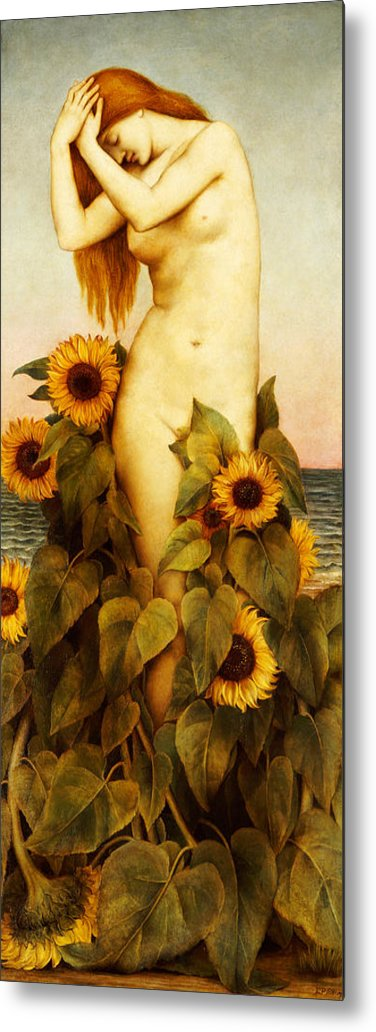 Sunflower Metal Print featuring the painting Clytie by Evelyn De Morgan
