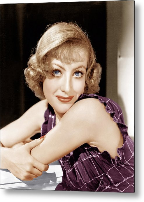 1930s Hairstyles Metal Print featuring the photograph Joan Crawford, Ca. 1930s by Everett