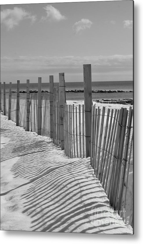 Snow Metal Print featuring the photograph Beach Snow by Catherine Reusch Daley
