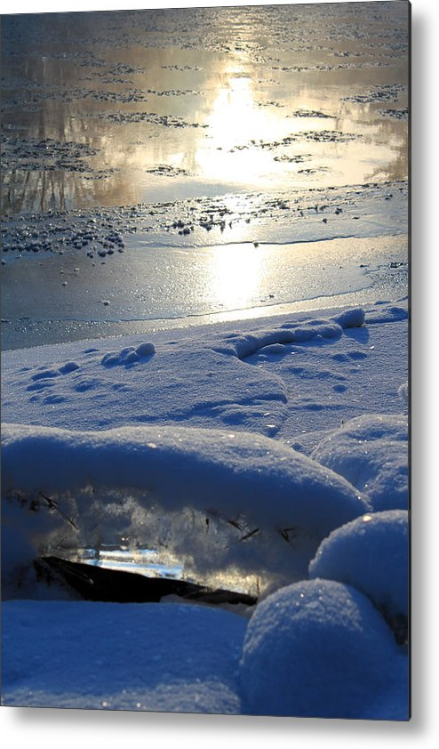 River Ice Metal Print featuring the photograph River Ice by Hanne Lore Koehler