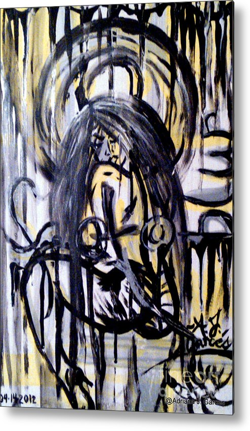 Figurative-abstract Metal Print featuring the painting Sarge-7 On Fotoblur by Adriana Garces