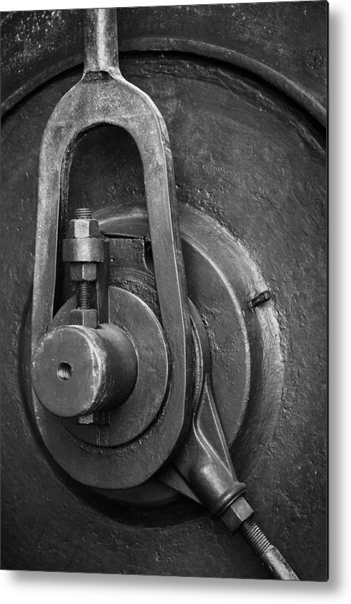 Abandoned Metal Print featuring the photograph Industrial Detail by Carlos Caetano