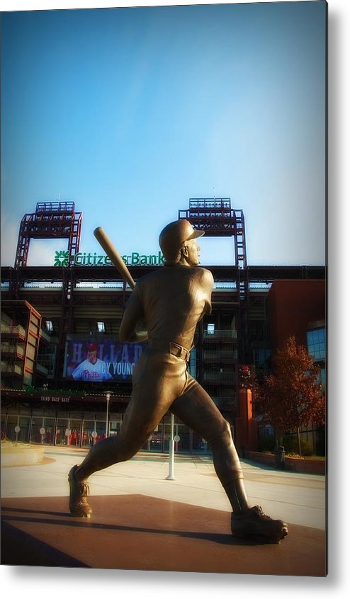 Mike Schmidt Metal Print featuring the photograph The Phillies - Mike Schmidt by Bill Cannon
