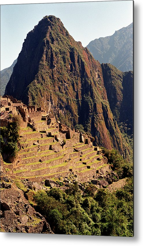 Vertical Metal Print featuring the photograph The Ruins Of Machu Picchu, Peru, Latin America by Brian Caissie