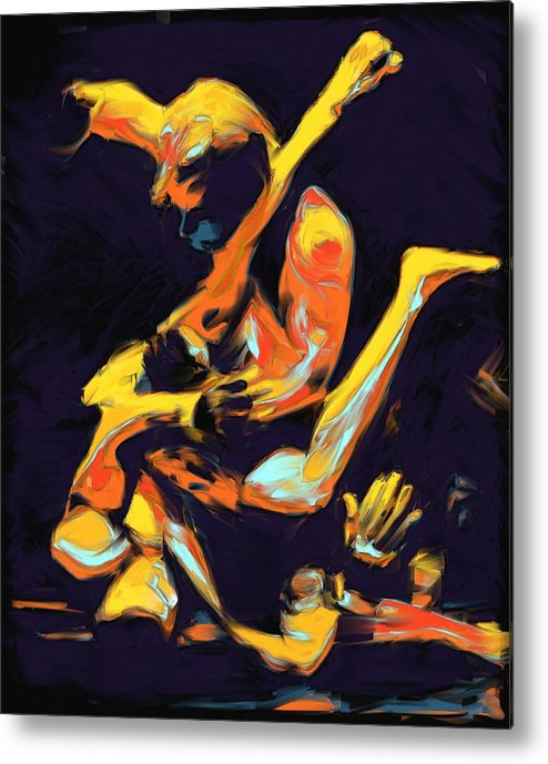 Mma Metal Print featuring the painting Cage Fighters by Deborah Lee