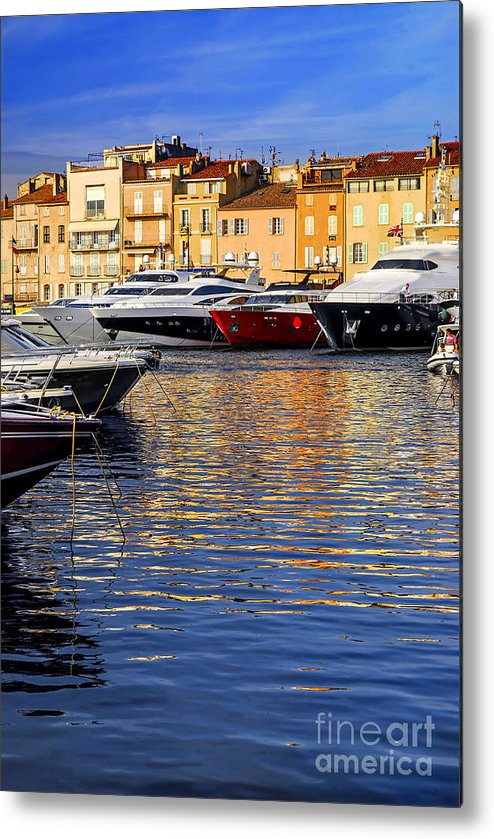 Yacht Metal Print featuring the photograph Boats At St.tropez by Elena Elisseeva