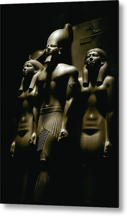 Dynasties Metal Print featuring the photograph A Statue Of Pharoh Menkaura by Kenneth Garrett