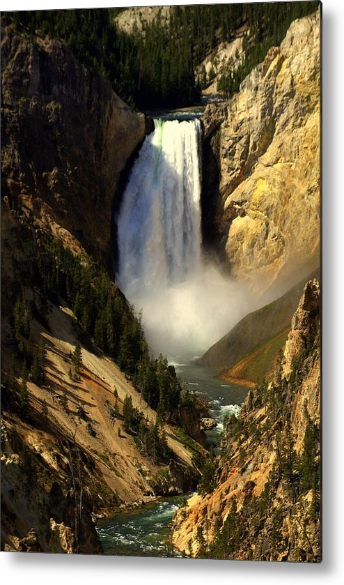 Yellowstone National Park Metal Print featuring the photograph Lower Falls 2 by Marty Koch
