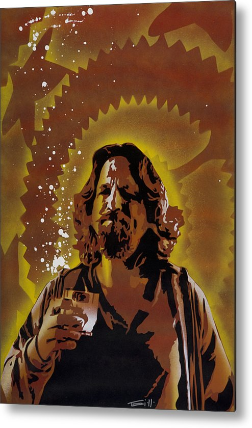 Pop Metal Print featuring the painting The Dude by Tai Taeoalii