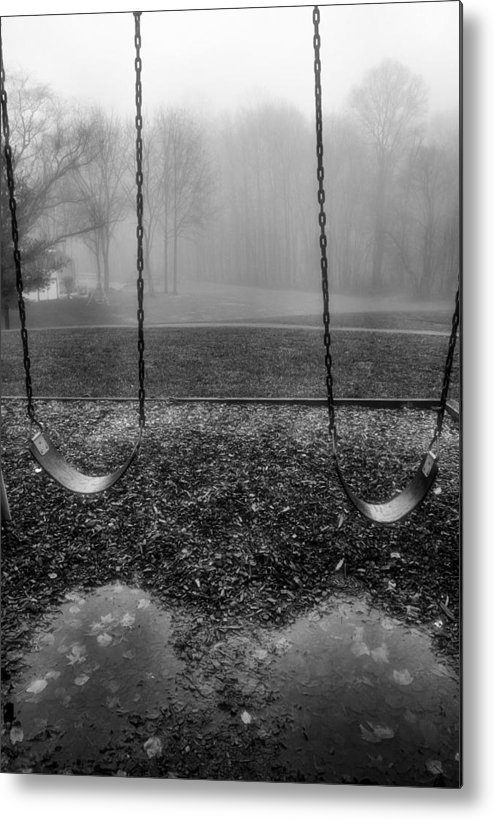 Swings Metal Print featuring the photograph Swing Seats I by Steven Ainsworth