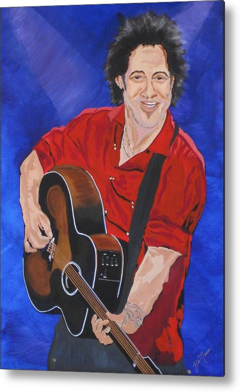 Brice Springsteen Paintings Metal Print featuring the painting Bruce Springsteen-an American Boy by Bill Manson