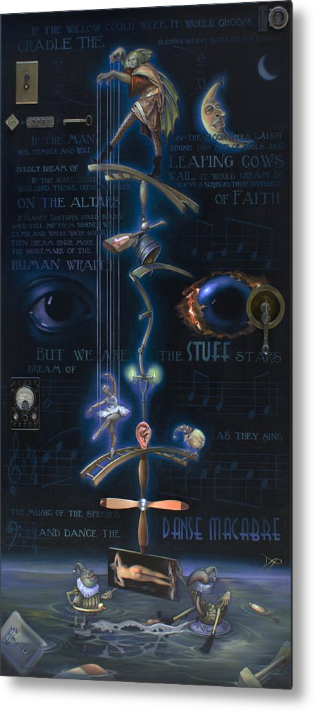 Ballet Metal Print featuring the painting The Danse Macabre by Patrick Anthony Pierson