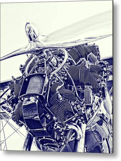 Airplane Metal Print featuring the photograph Blueprint Radial by Steven Richardson