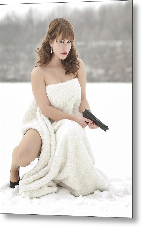 Snowy Metal Print featuring the photograph La Femme by Brian Mollenkopf