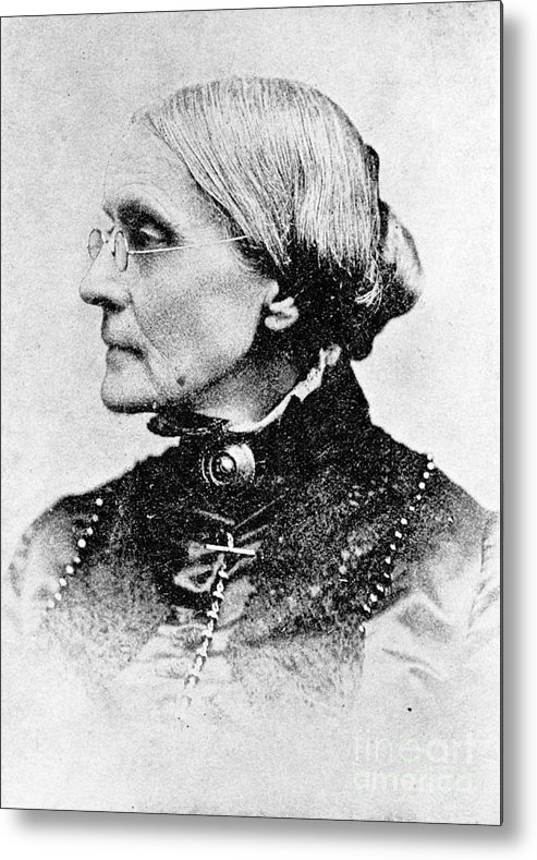 History Metal Print featuring the photograph Susan B. Anthony, American Civil Rights by Photo Researchers, Inc.
