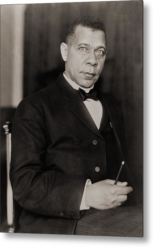 History Metal Print featuring the photograph Booker T. Washington 1856-1915, Became by Everett