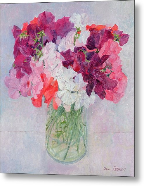 Pea Metal Print featuring the painting Sweet Peas by Ann Patrick