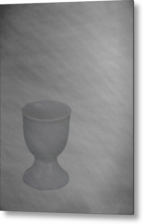 Easter Eggcup Metal Print featuring the digital art Easter Eggcup by Sarah Vernon