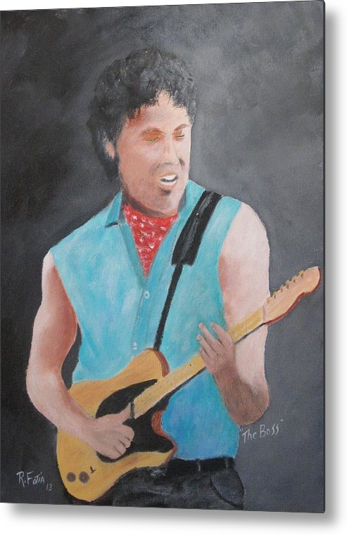 Springsteen Metal Print featuring the painting The Boss by Rich Fotia