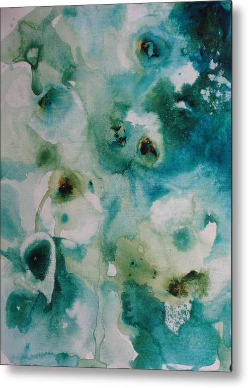 Floral Metal Print featuring the painting Essence Of Flower by Elizabeth Carr
