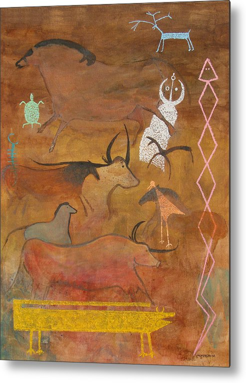 Judaica Metal Print featuring the painting Spirits- Souls Of All Living by Mordecai Colodner