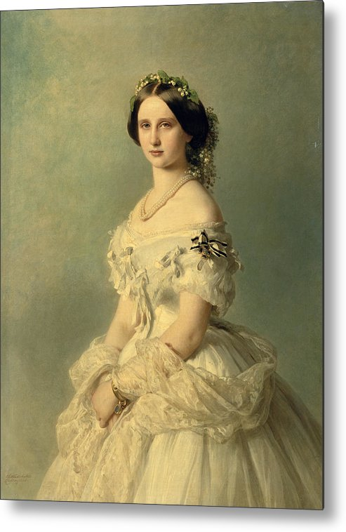 Portrait Metal Print featuring the painting Portrait Of Princess Of Baden by Franz Xaver Winterhalter