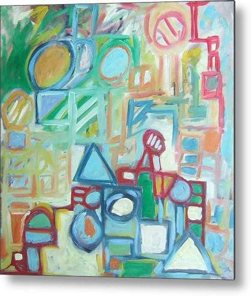 Abstract Metal Print featuring the painting Composition No 4 by Michael Henderson