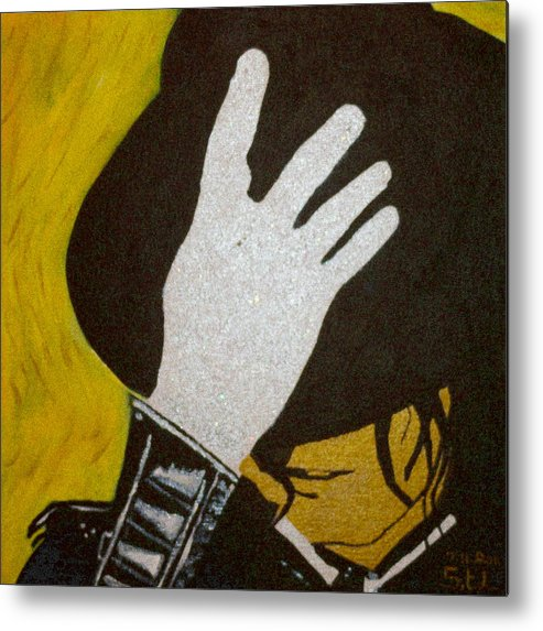 Michael Jackson Metal Print featuring the painting Michael Jackson by Estelle BRETON-MAYA