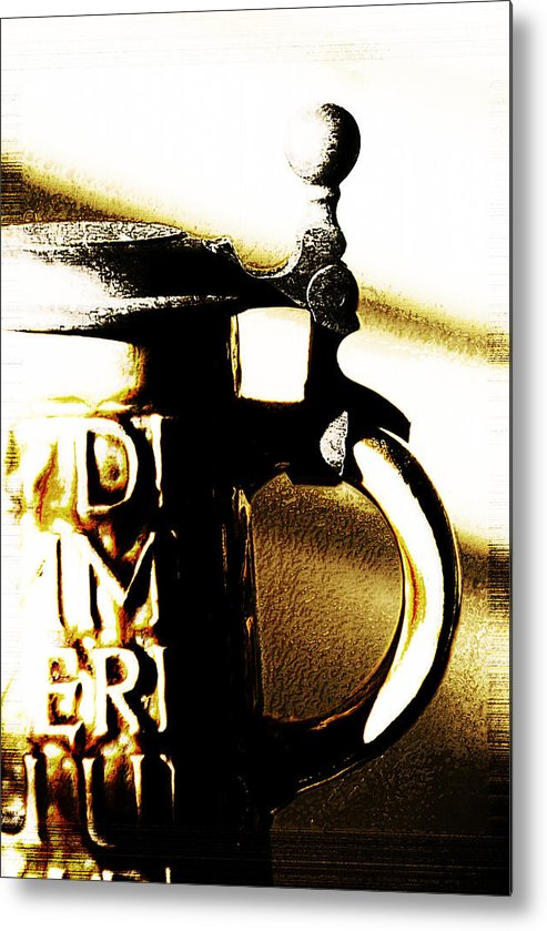 Beer Glass Metal Print featuring the photograph Beer Stein by Simone Hester
