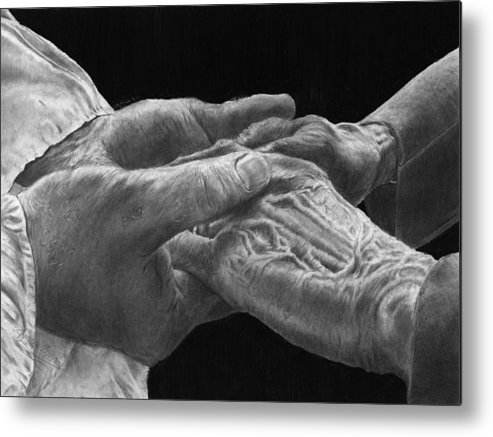 Canvas Prints Metal Print featuring the drawing Hands Of Love by Jyvonne Inman