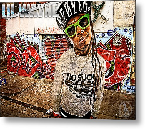 Little Wayne Metal Print featuring the digital art Street Phenomenon Lil Wayne by The DigArtisT