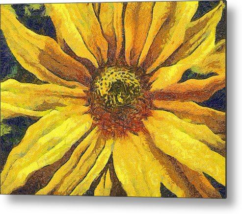 Odon Metal Print featuring the painting The Flower by Odon Czintos