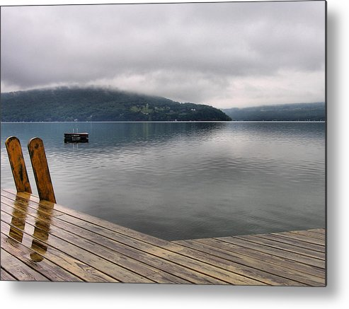 Keuka Lake Metal Print featuring the photograph Rainy Day Keuka by Steven Ainsworth