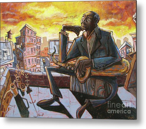 John Metal Print featuring the painting Roof Trane by Sean Hagan