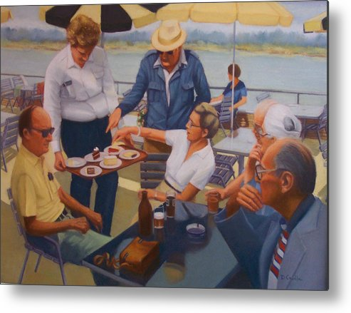 Rhine River Cruise Metal Print featuring the painting The Boat Party by Diane Caudle