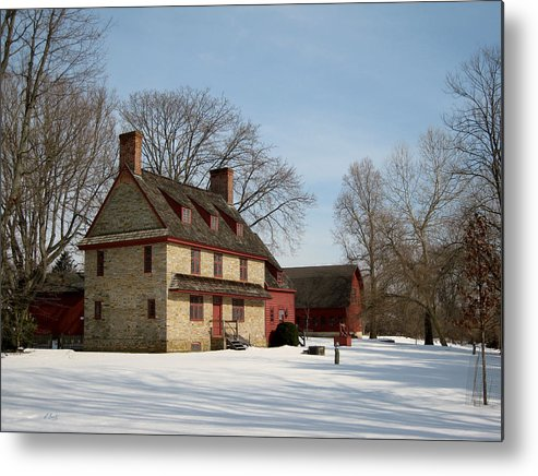 William Metal Print featuring the photograph William Brinton House 1704 by Gordon Beck