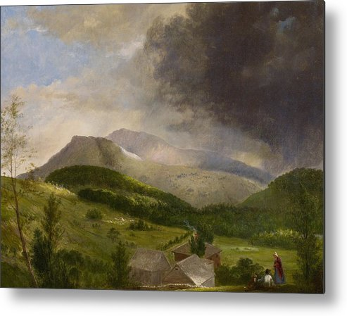 Couple Metal Print featuring the painting Approaching Storm White Mountains by Alvan Fisher