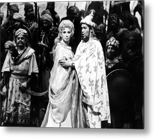1970s Metal Print featuring the photograph Beverly Sills, Justino Diaz Performing by Everett